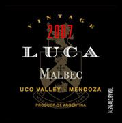 Luca Malbec 2007 Front Label