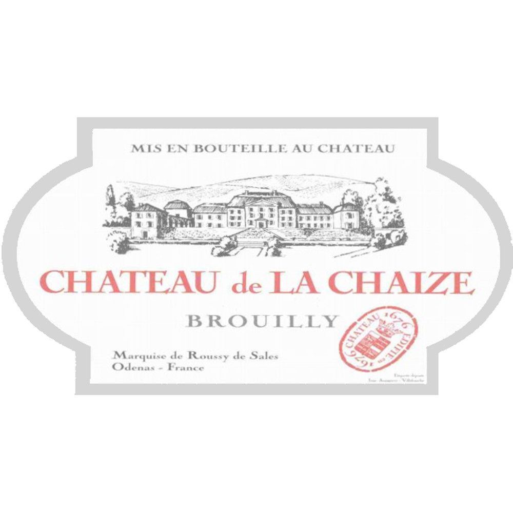 Chateau de la Chaize Brouilly 2006 Front Label
