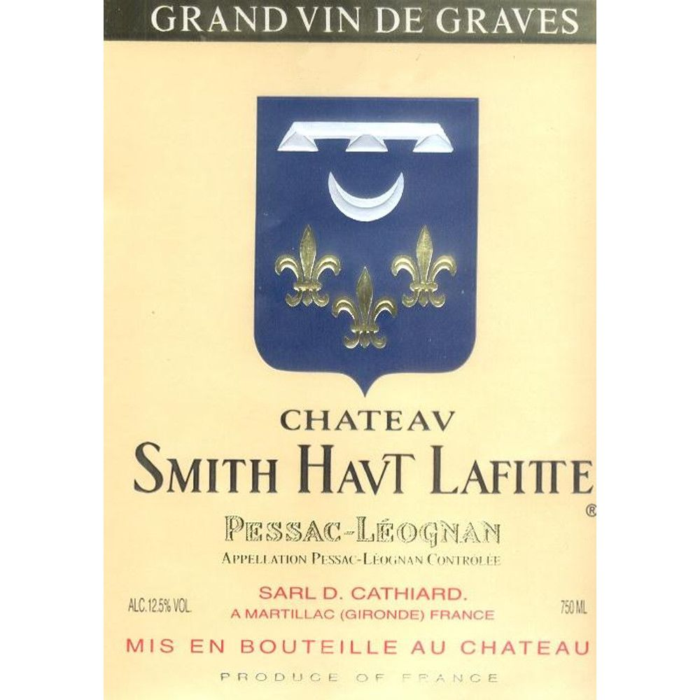 Chateau Smith Haut Lafitte Blanc 2005 Front Label