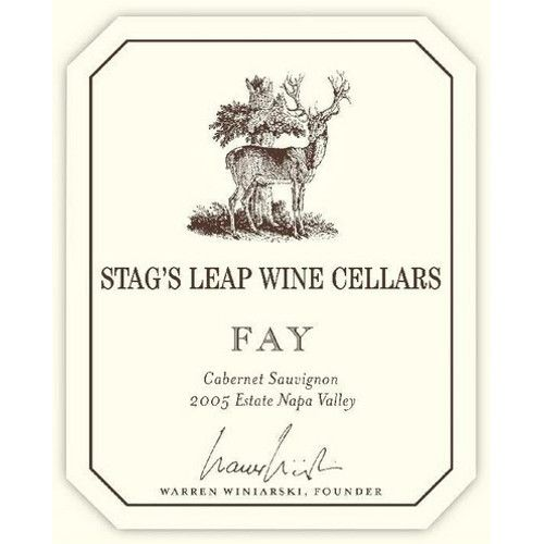 Stag's Leap Wine Cellars Fay Vineyard Cabernet Sauvignon 2005 Front Label