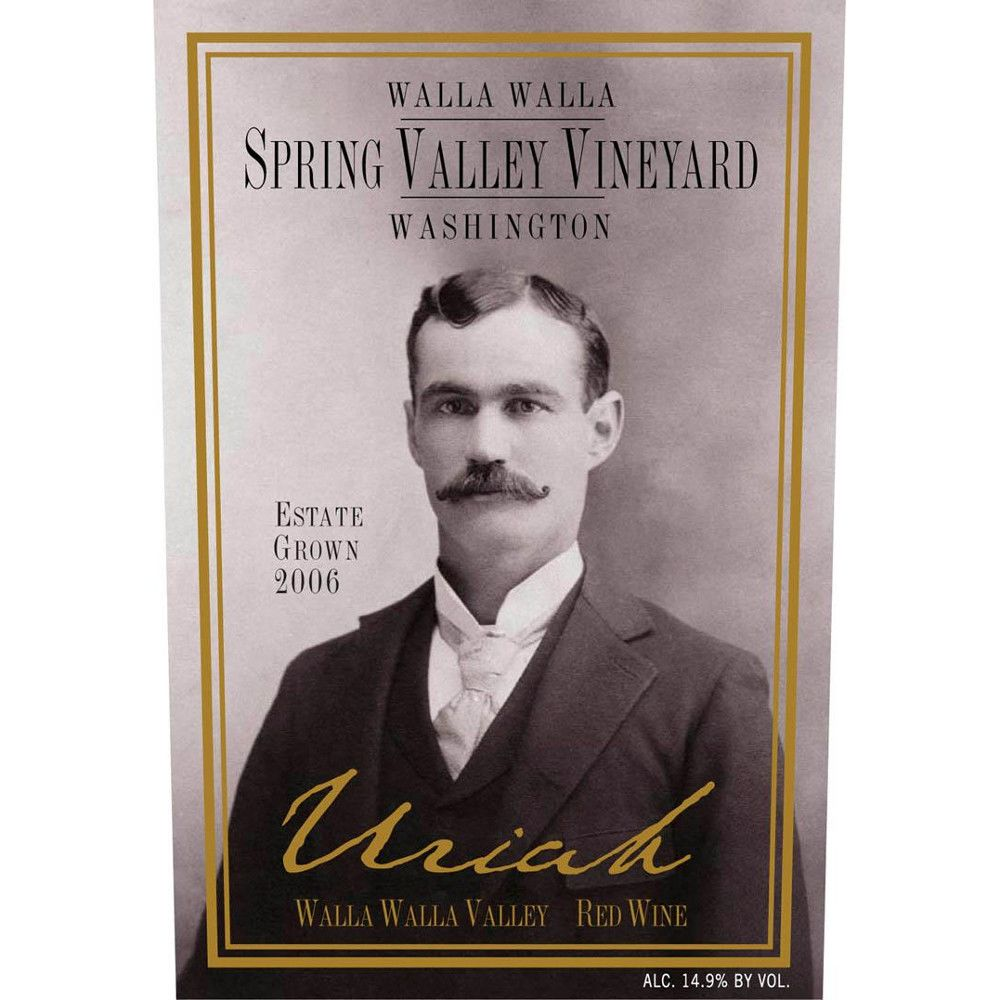Spring Valley Uriah 2006 Front Label