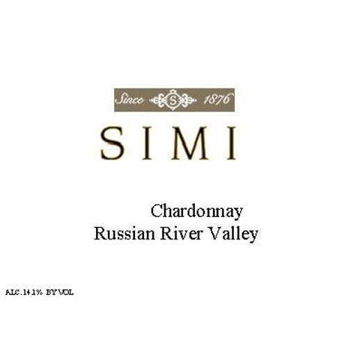 Simi Russian River Chardonnay 2006 Front Label
