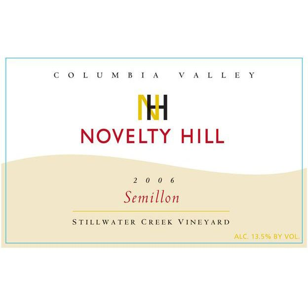 Novelty Hill Semillon 2006 Front Label