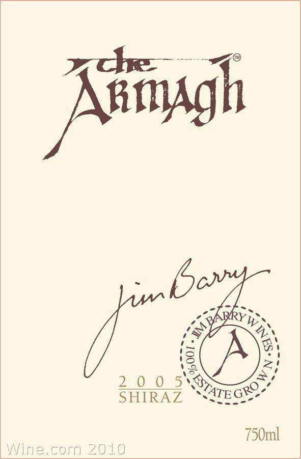 Jim Barry The Armagh Shiraz 2005 Front Label