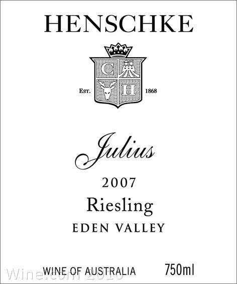 Henschke Julius Eden Valley Riesling 2007 Front Label