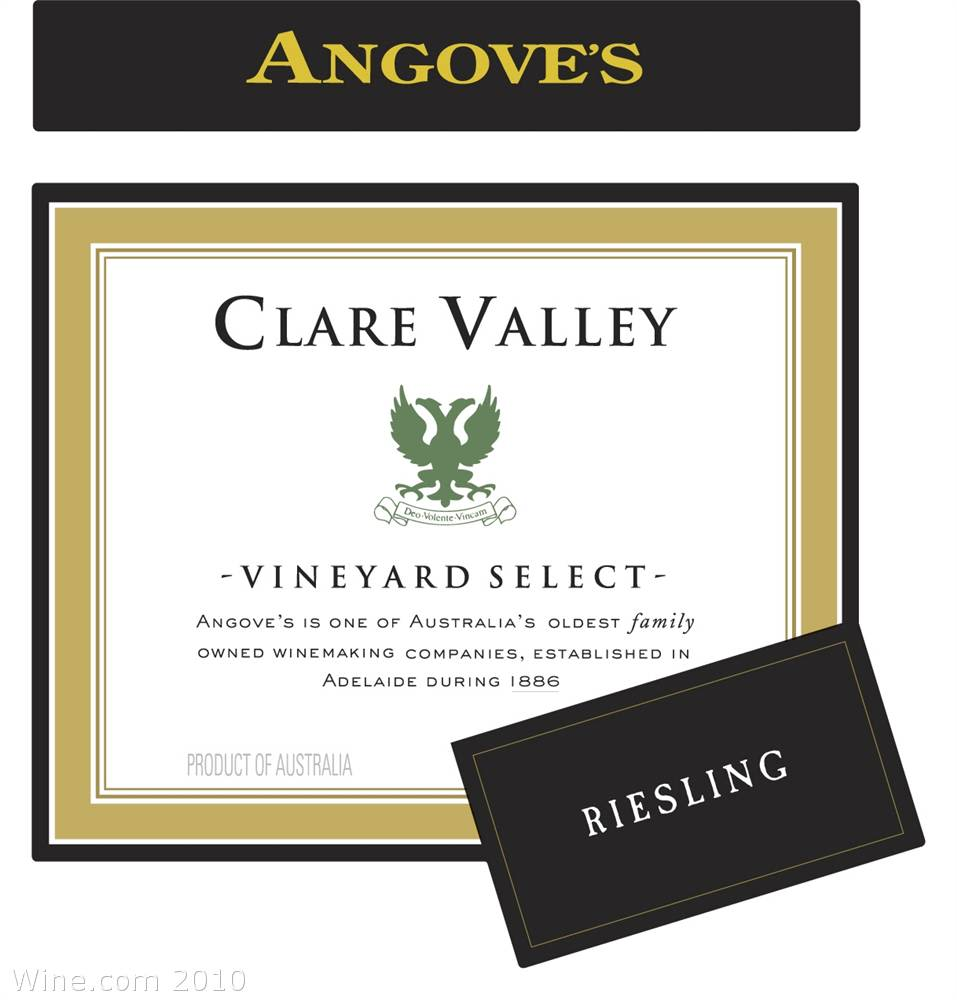 Angove Family Winemakers Clare Valley Vineyard Select Riesling 2006 Front Label