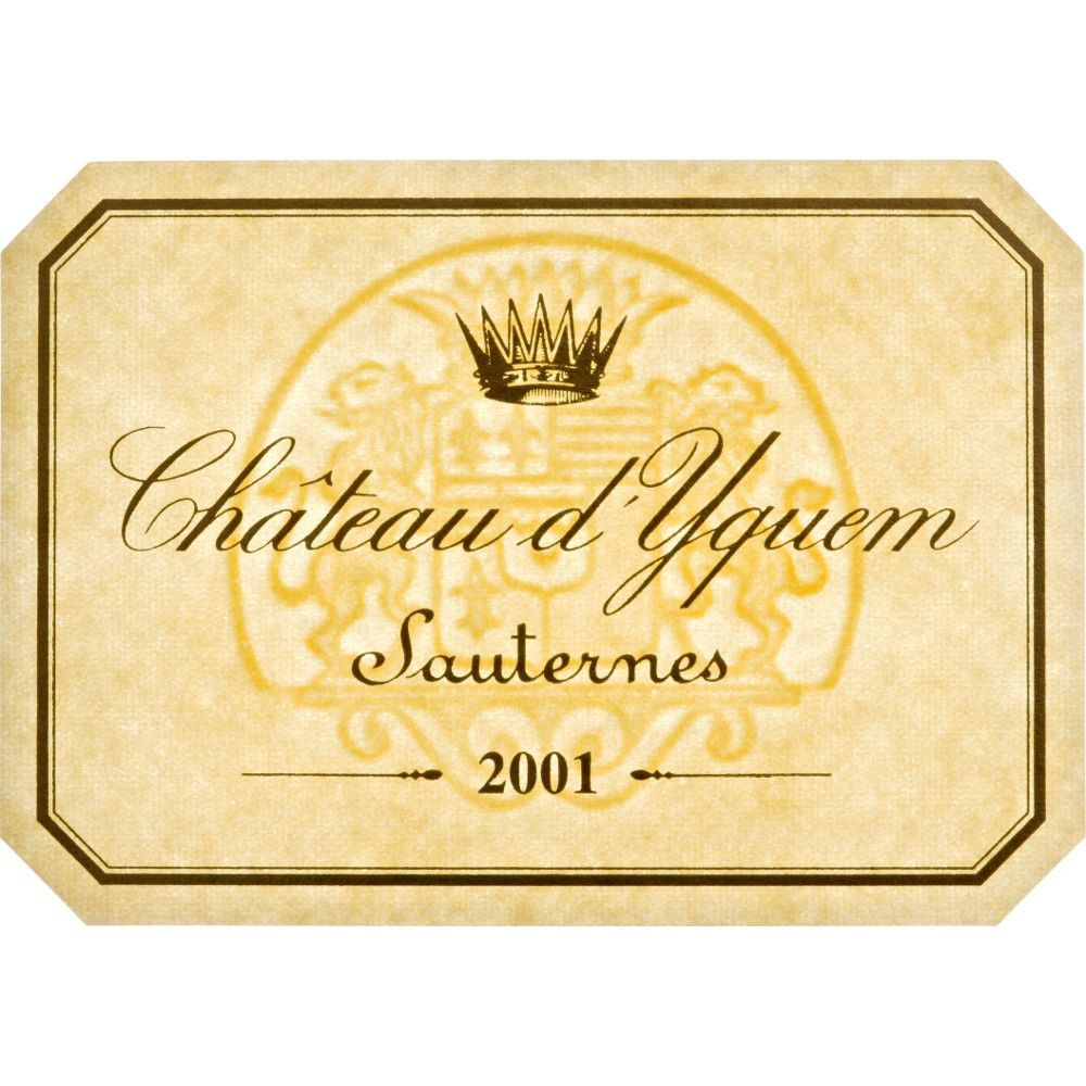 Chateau d'Yquem Sauternes (375ML half-bottle) 2001 Front Label