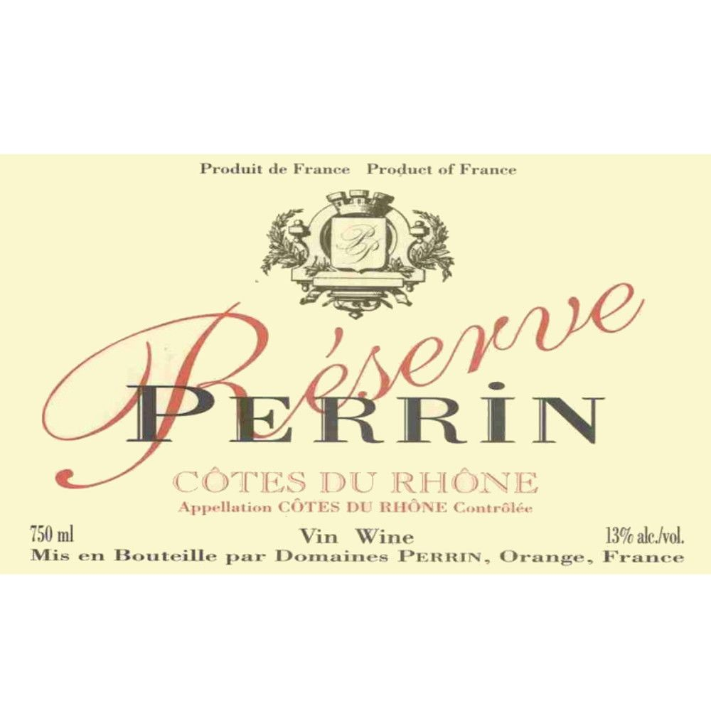 Famille Perrin Reserve Cotes du Rhone Rouge 2007 Front Label