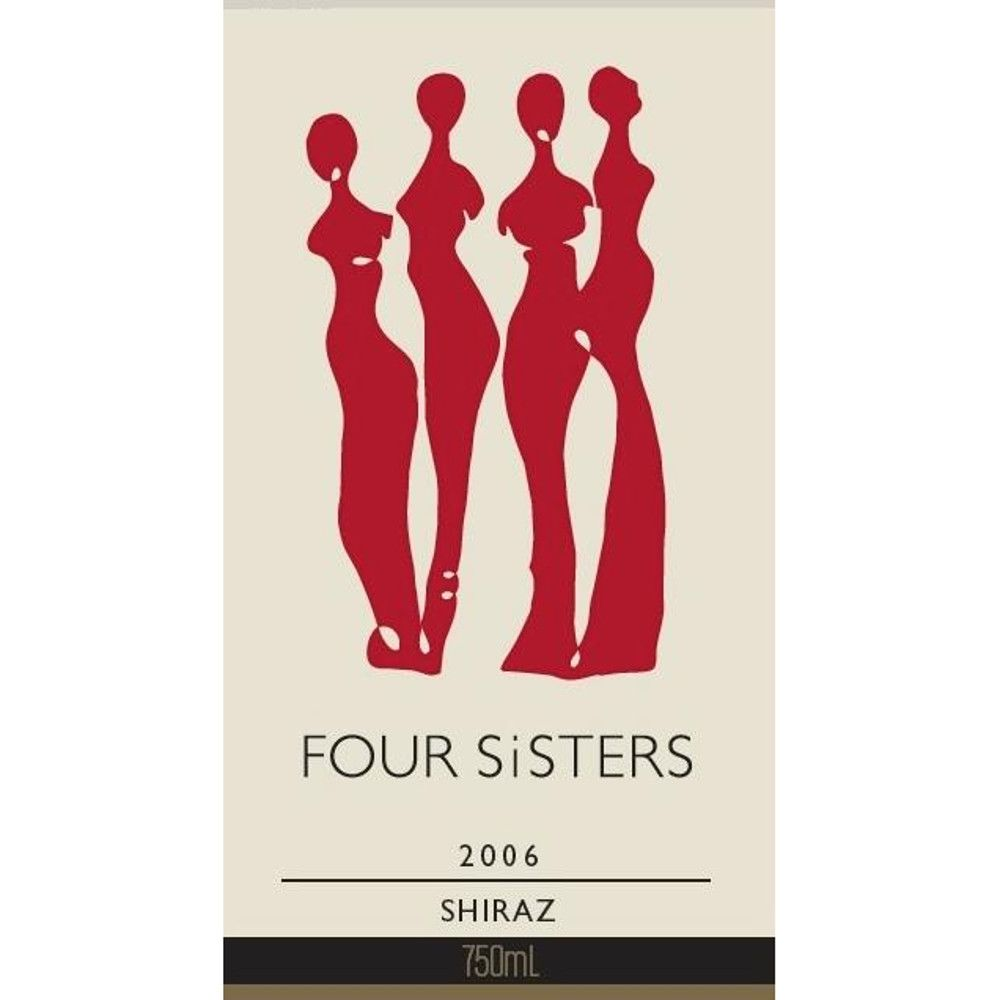Four Sisters Shiraz 2006 Front Label
