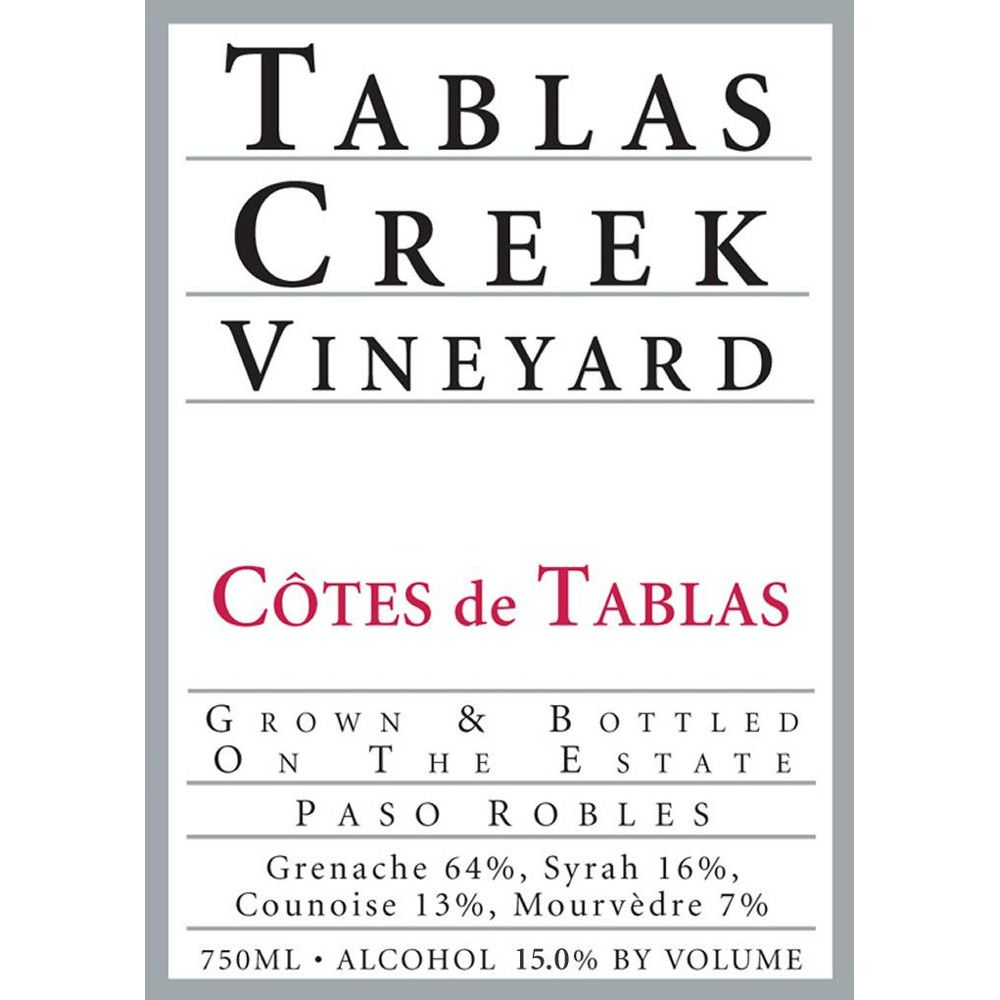 Tablas Creek Cotes de Tablas Rouge 2006 Front Label
