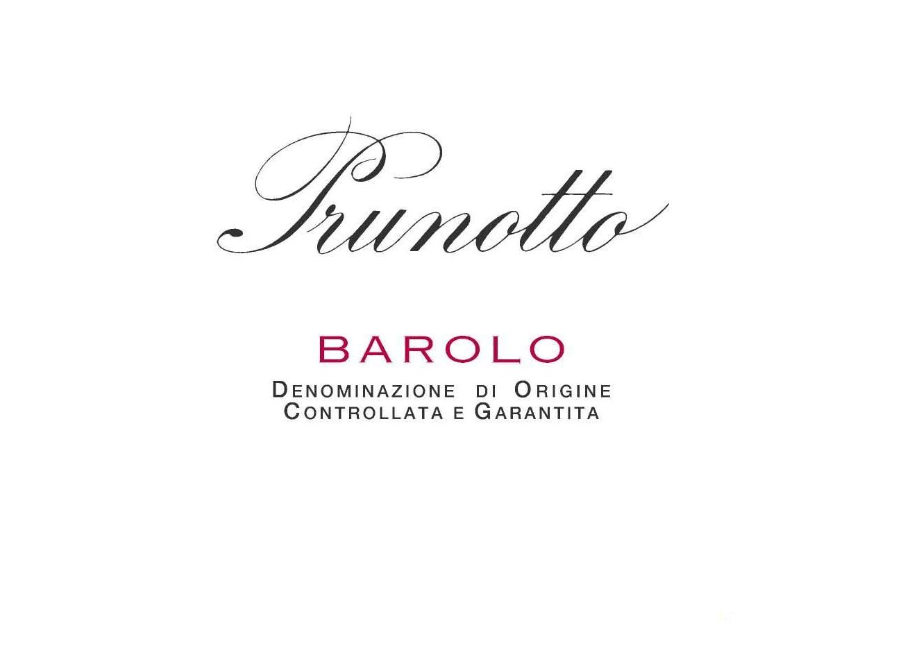 Prunotto Barolo 2013 Front Label