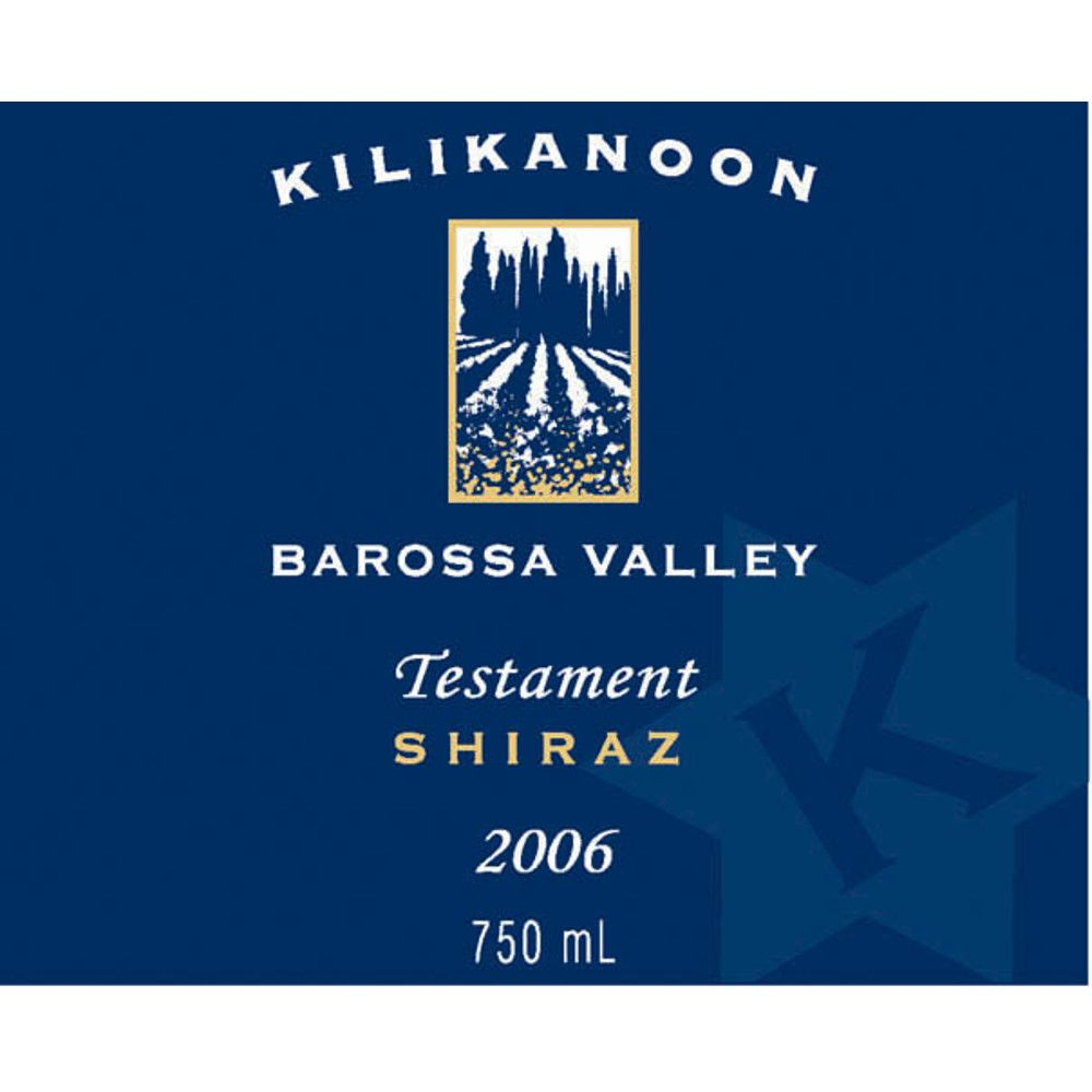 Kilikanoon Testament Shiraz 2006 Front Label