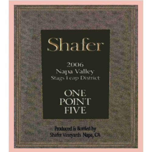 Shafer One Point Five Cabernet Sauvignon 2006 Front Label