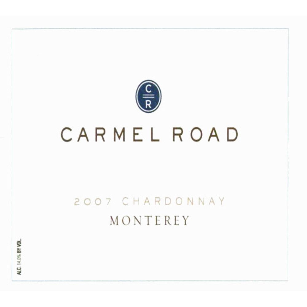 Carmel Road Monterey Unoaked Chardonnay 2007 Front Label