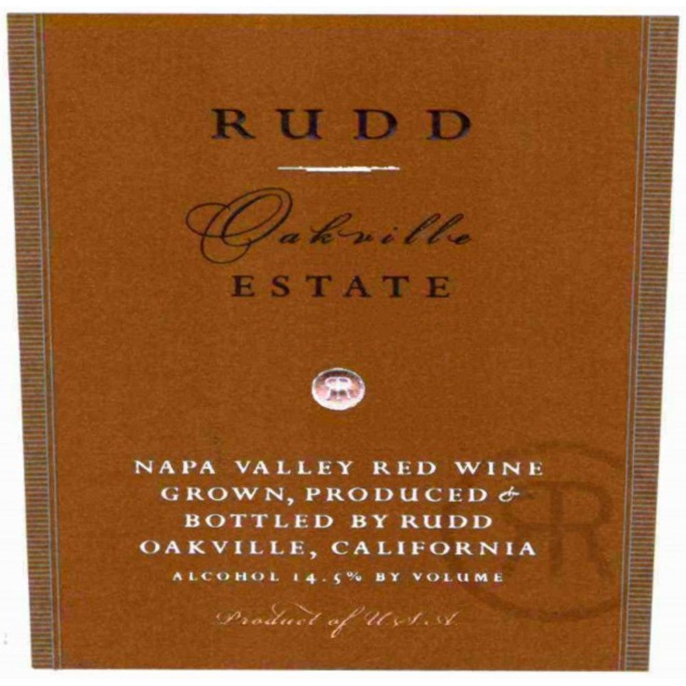 Rudd Oakville Estate Proprietary Red 2005 Front Label