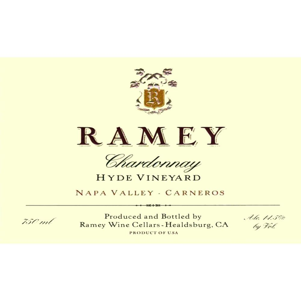 Ramey Hyde Vineyard Chardonnay 2006 Front Label