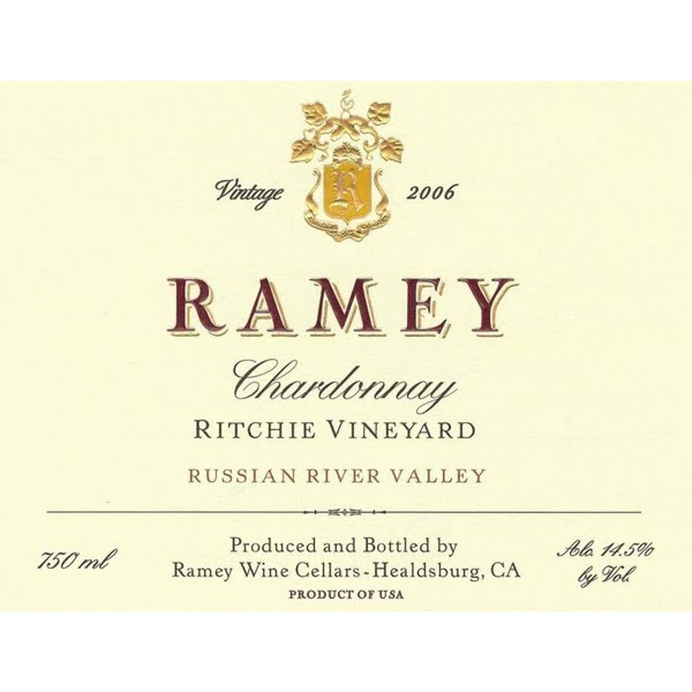 Ramey Ritchie Vineyard Chardonnay 2006 Front Label