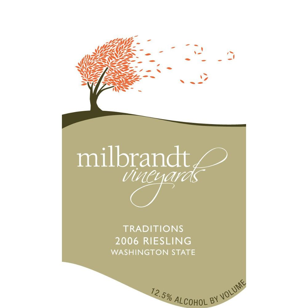 Milbrandt Traditions Riesling 2006 Front Label