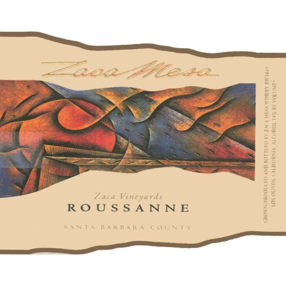 Zaca Mesa Zaca Vineyards Roussanne 2006 Front Label