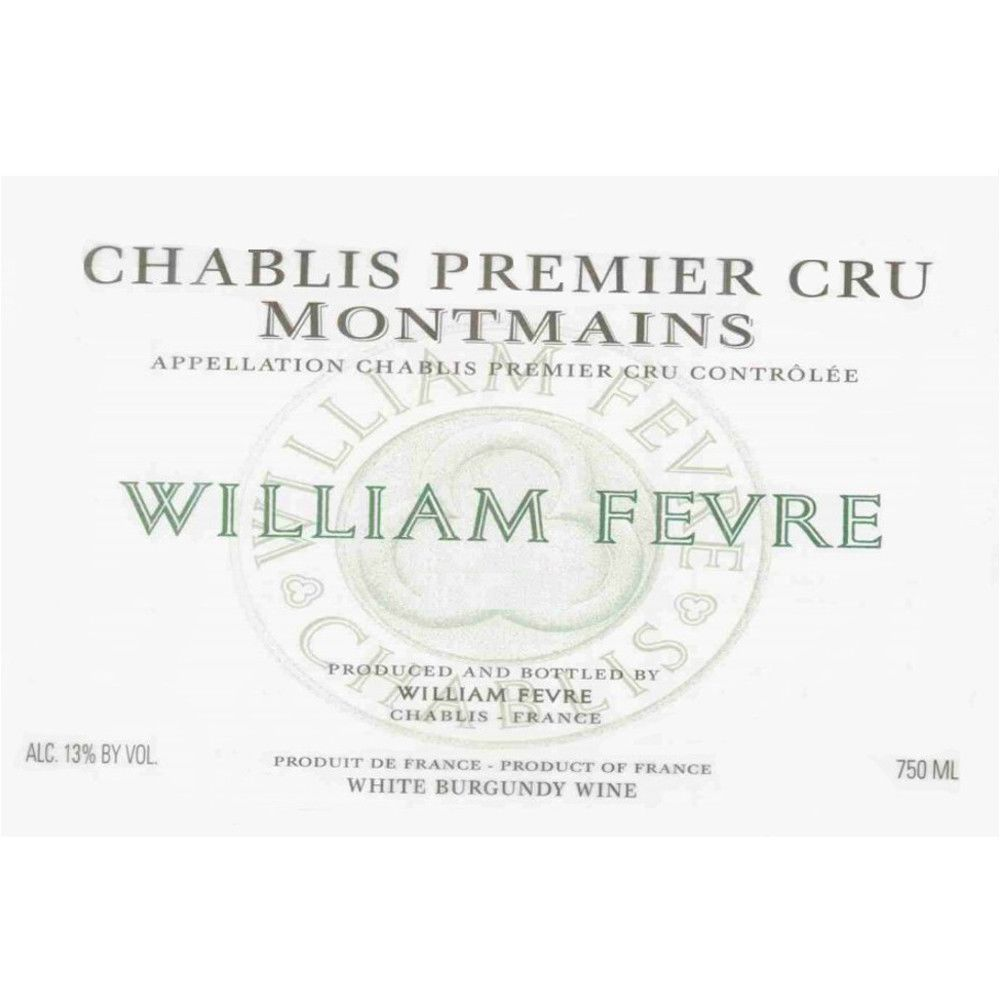 William Fevre Chablis Montmains Premier Cru 2007 Front Label