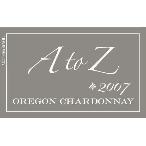 A to Z Chardonnay 2007 Front Label