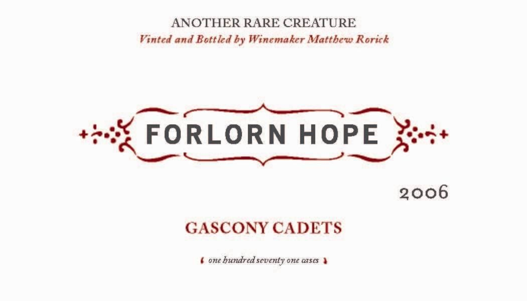 Forlorn Hope Gascony Cadets King Vineyard Petit Verdot 2006 Front Label