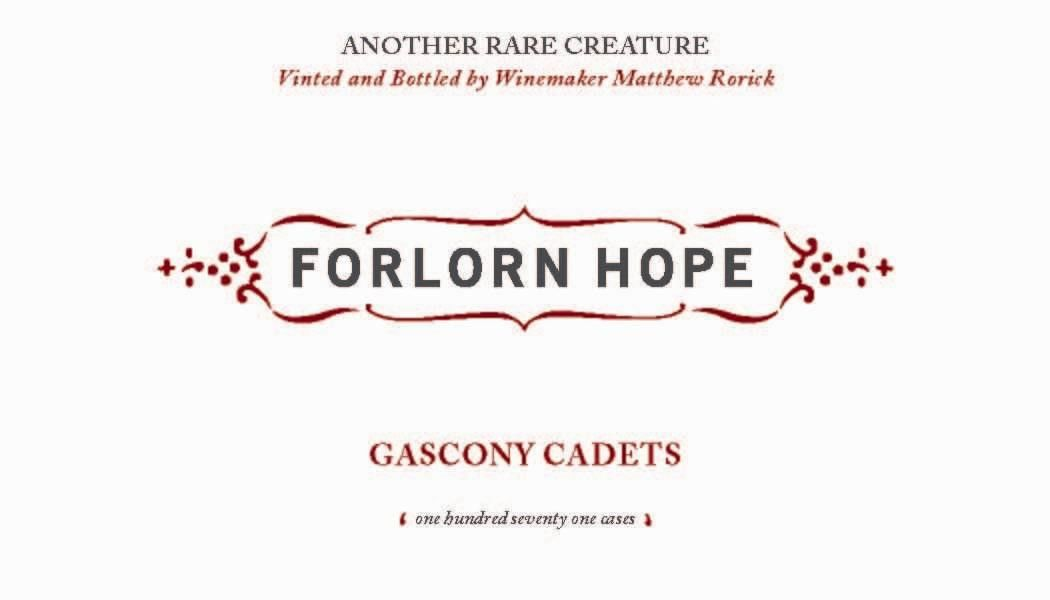 Forlorn Hope Gascony Cadets King Vineyard Petit Verdot 2007 Front Label