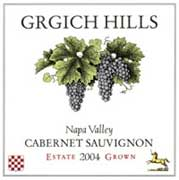 Grgich Hills Estate Cabernet Sauvignon (375ML half-bottle) 2004 Front Label