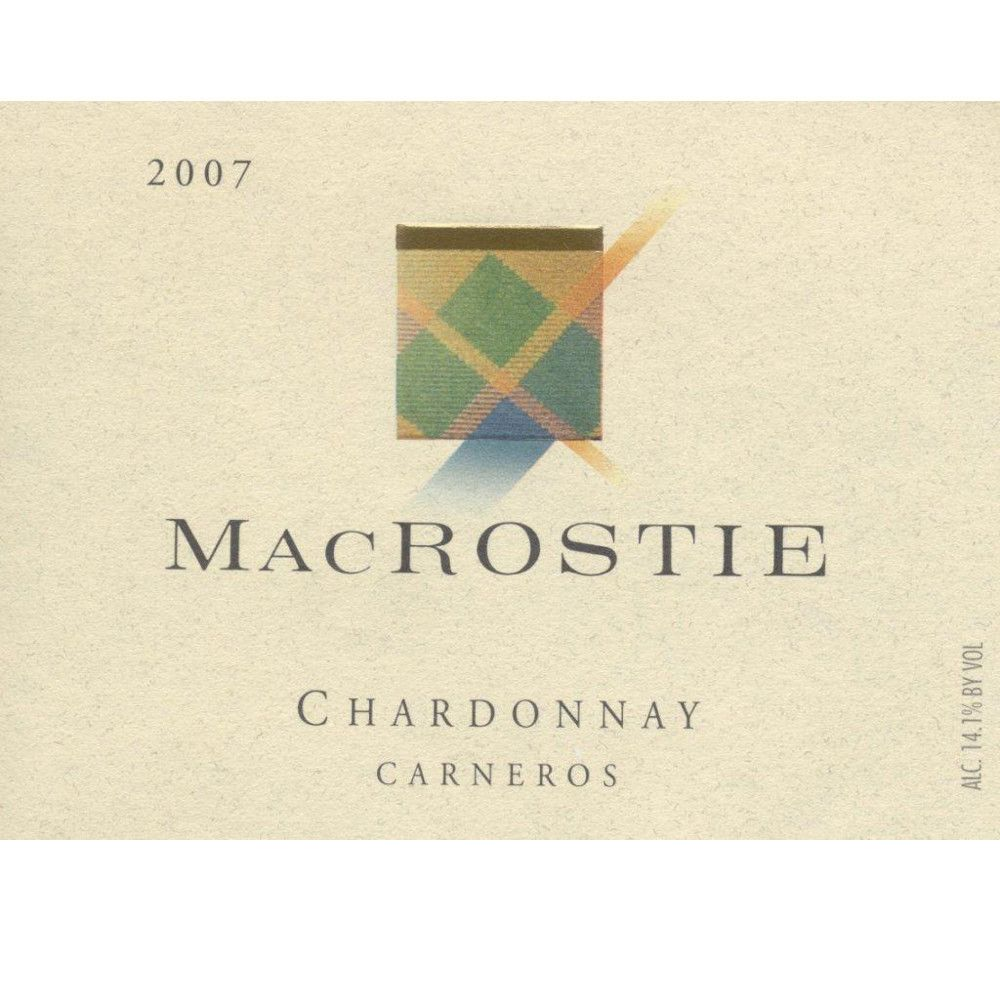 MacRostie Chardonnay (375ML half-bottle) 2007 Front Label