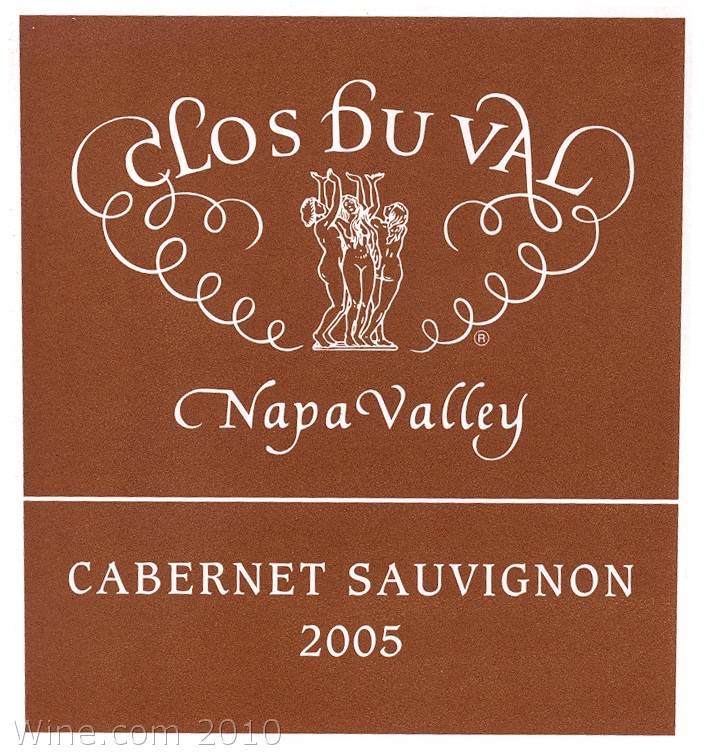 Clos Du Val Stags Leap District Cabernet Sauvignon 2005 Front Label