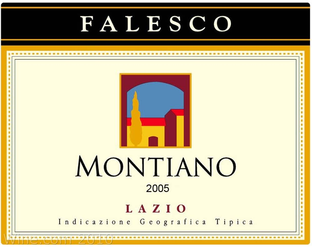 Falesco Montiano 2005 Front Label