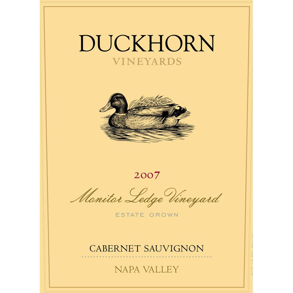 Duckhorn Monitor Ledge Vineyard Cabernet Sauvignon (1.5L) 2001 Front Label