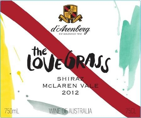 d'Arenberg The Love Grass Shiraz 2012 Front Label