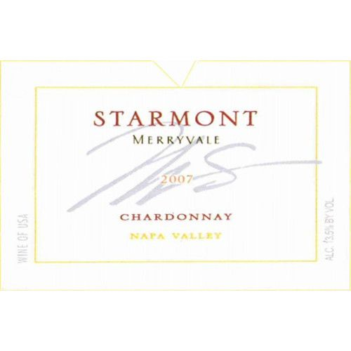 Starmont Chardonnay 2007 Front Label