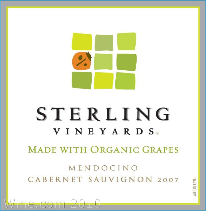 Sterling Organic Cabernet Sauvignon 2007 Front Label
