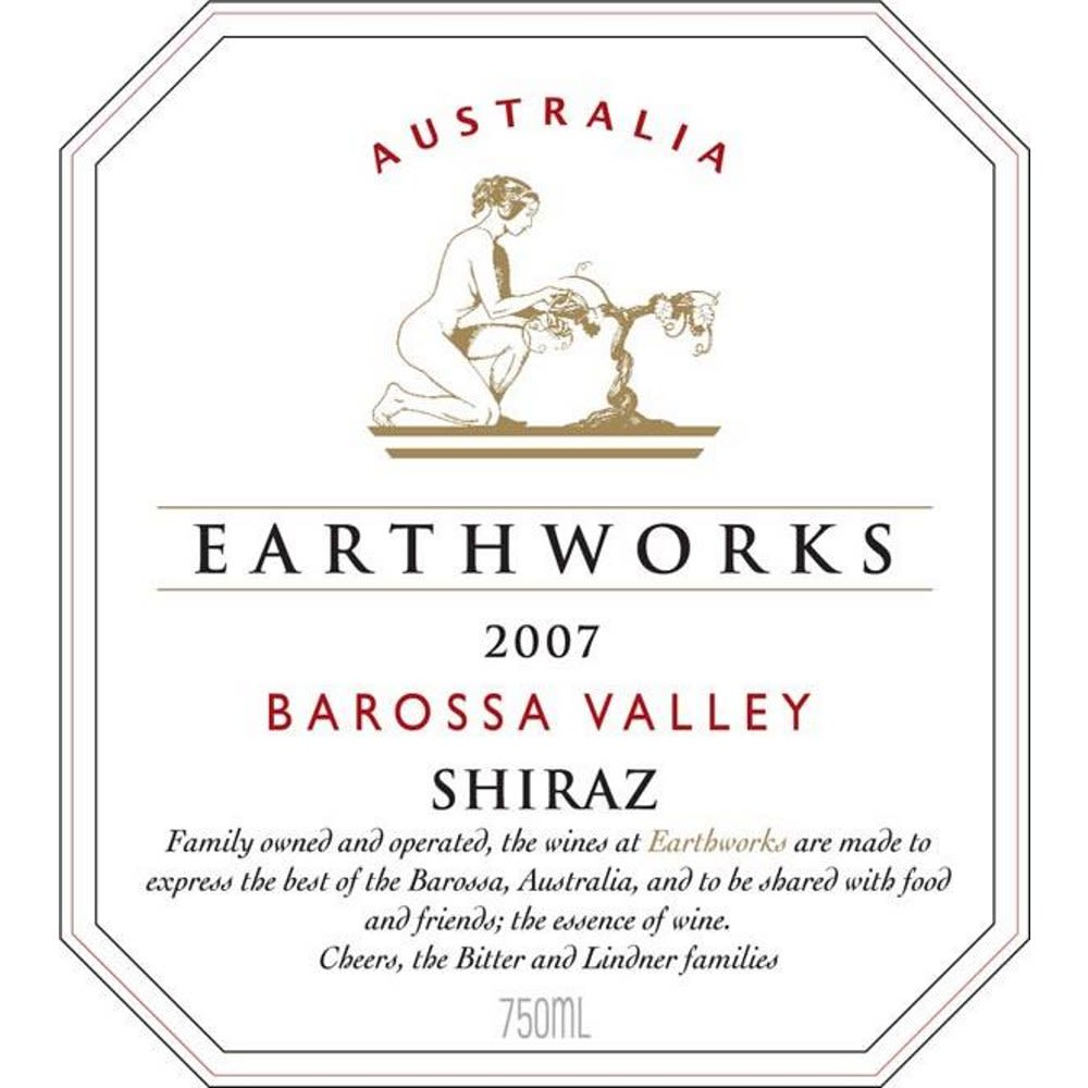 Earthworks Shiraz 2007 Front Label