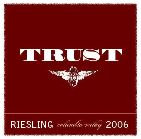Trust Cellars Riesling 2006 Front Label