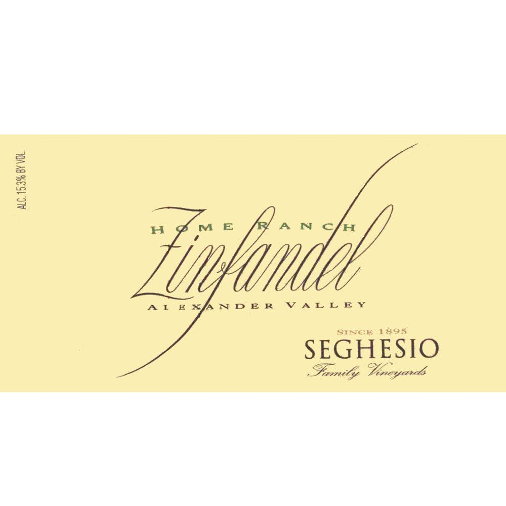 Seghesio Home Ranch Zinfandel 2007 Front Label