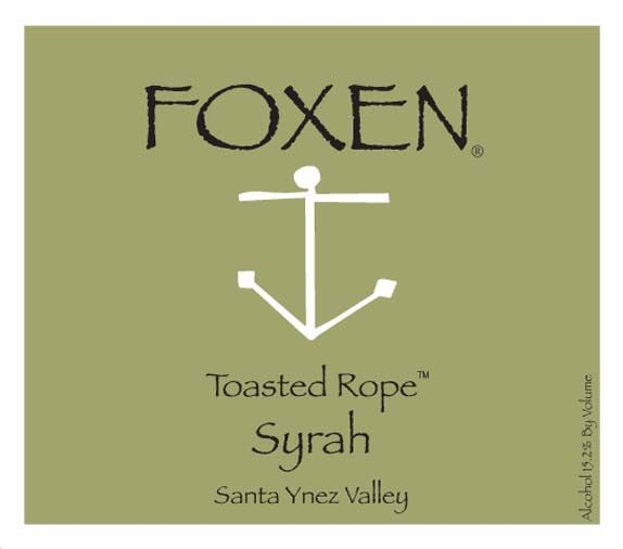 Foxen Toasted Rope Syrah 2006 Front Label