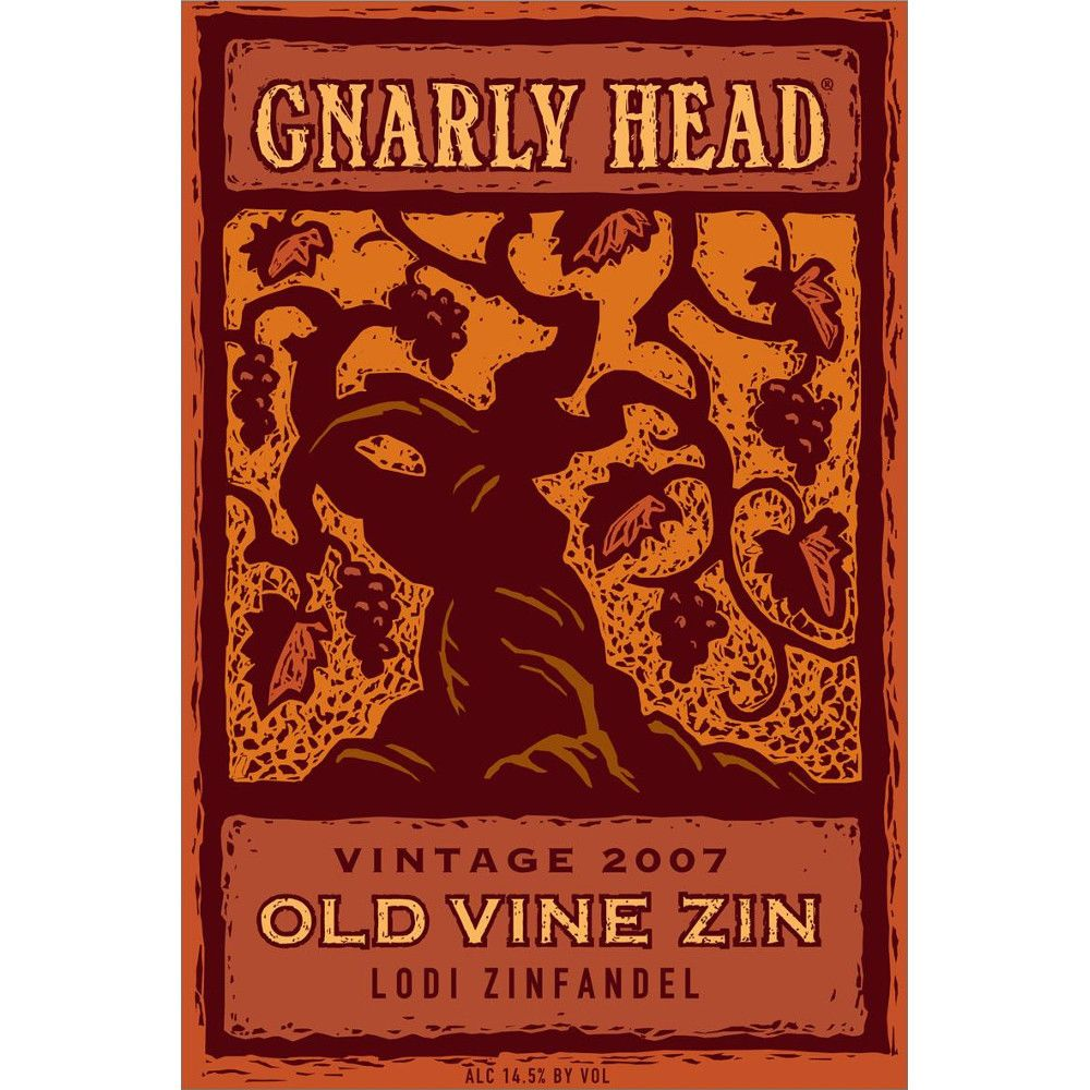 Gnarly Head Old Vine Zinfandel 2007 Front Label