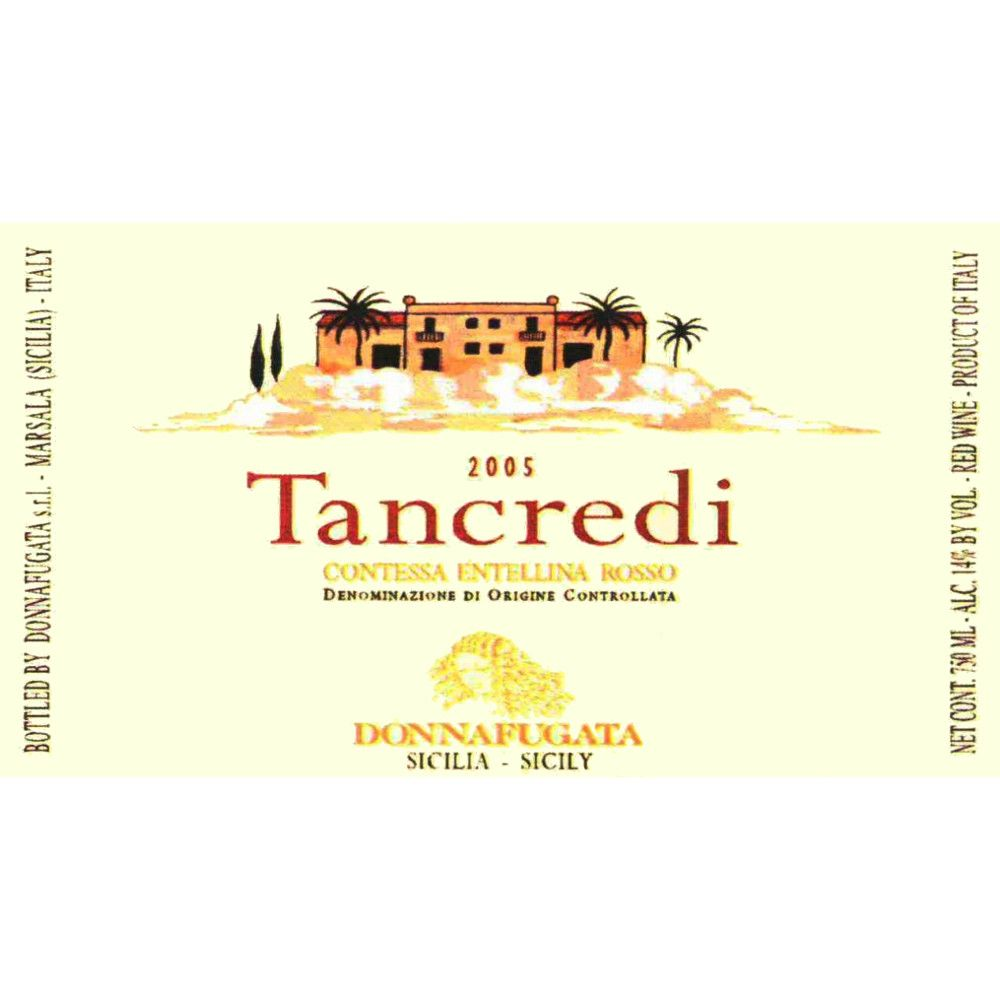 Donnafugata Tancredi 2005 Front Label