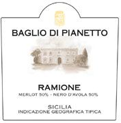 Baglio di Pianetto Ramione 2004 Front Label