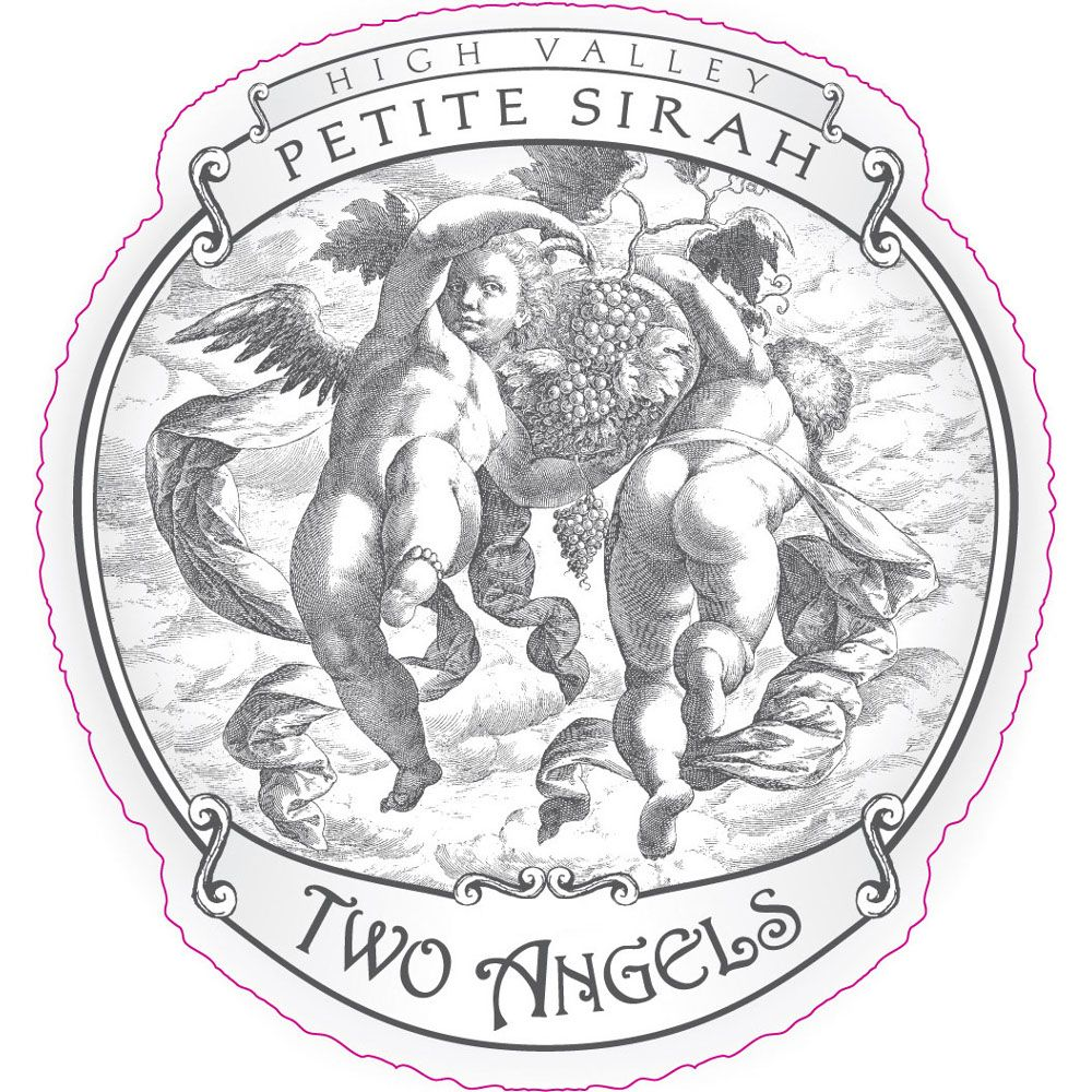 Two Angels Petite Sirah 2006 Front Label
