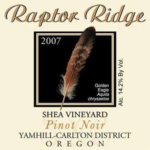 Raptor Ridge Shea Vineyard Pinot Noir 2007 Front Label