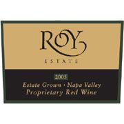 Roy Estate Estate Proprietary Red 2005 Front Label