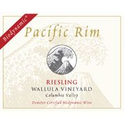 Pacific Rim Wallula Vineyard Biodynamic Riesling 2007 Front Label