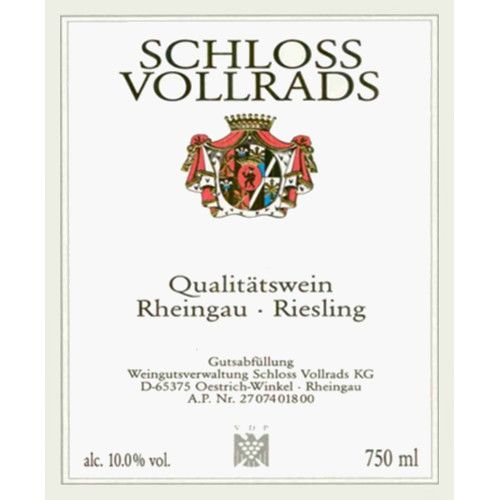 Schloss Vollrads Riesling QbA 2007 Front Label