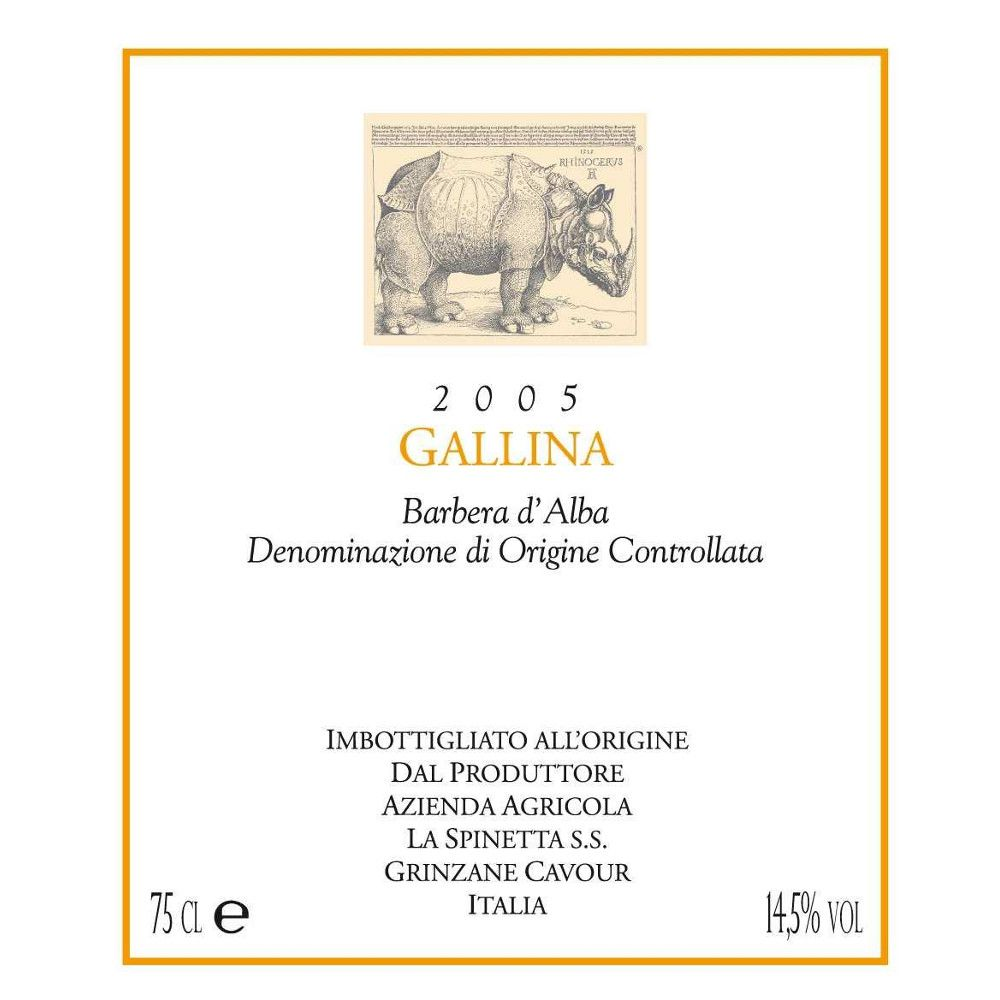 La Spinetta Barbera d'Alba Gallina 2005 Front Label