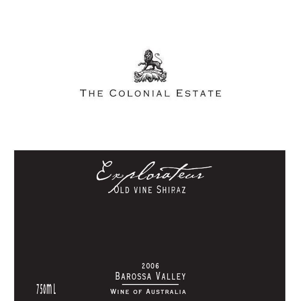 The Colonial Estate Explorateur Shiraz 2006 Front Label