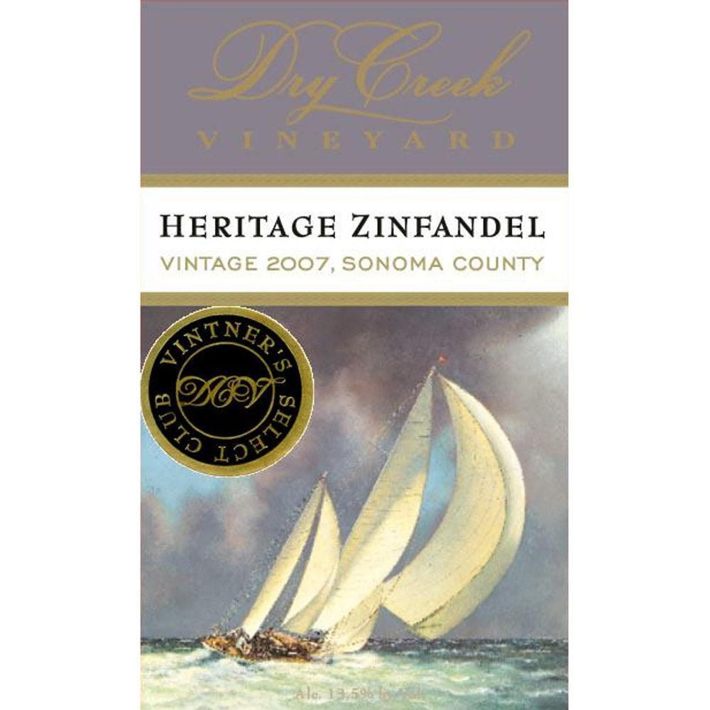 Dry Creek Vineyard Heritage Zinfandel 2007 Front Label